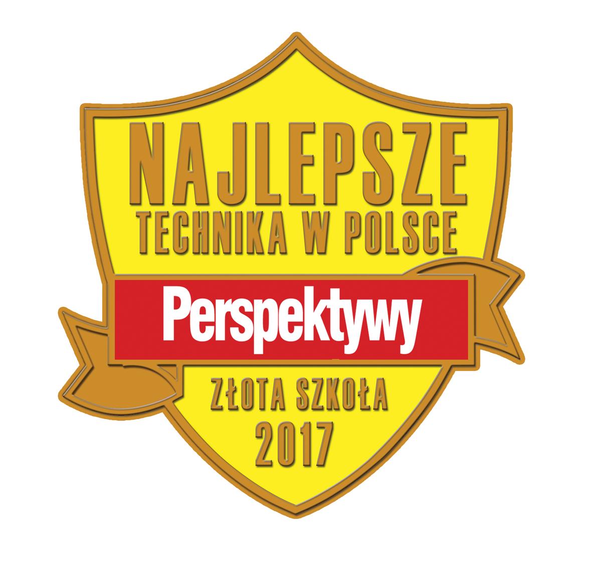 Fundacja Edukacyjna 'Perspektywy' potwierdza, że  TECHNIKUM NR 1 W ZESPOLE SZKÓŁ IM. WŁADYSŁAWA SZYBIŃSKIEGO w Cieszynie  jest wśród 300 najlepszych techników w Polsce sklasyfikowanych w Rankingu Szkół Ponadgimnazjalnych PERSPEKTYWY 2017 i przysługuje mu tytuł 'Złotej Szkoły 2017'.