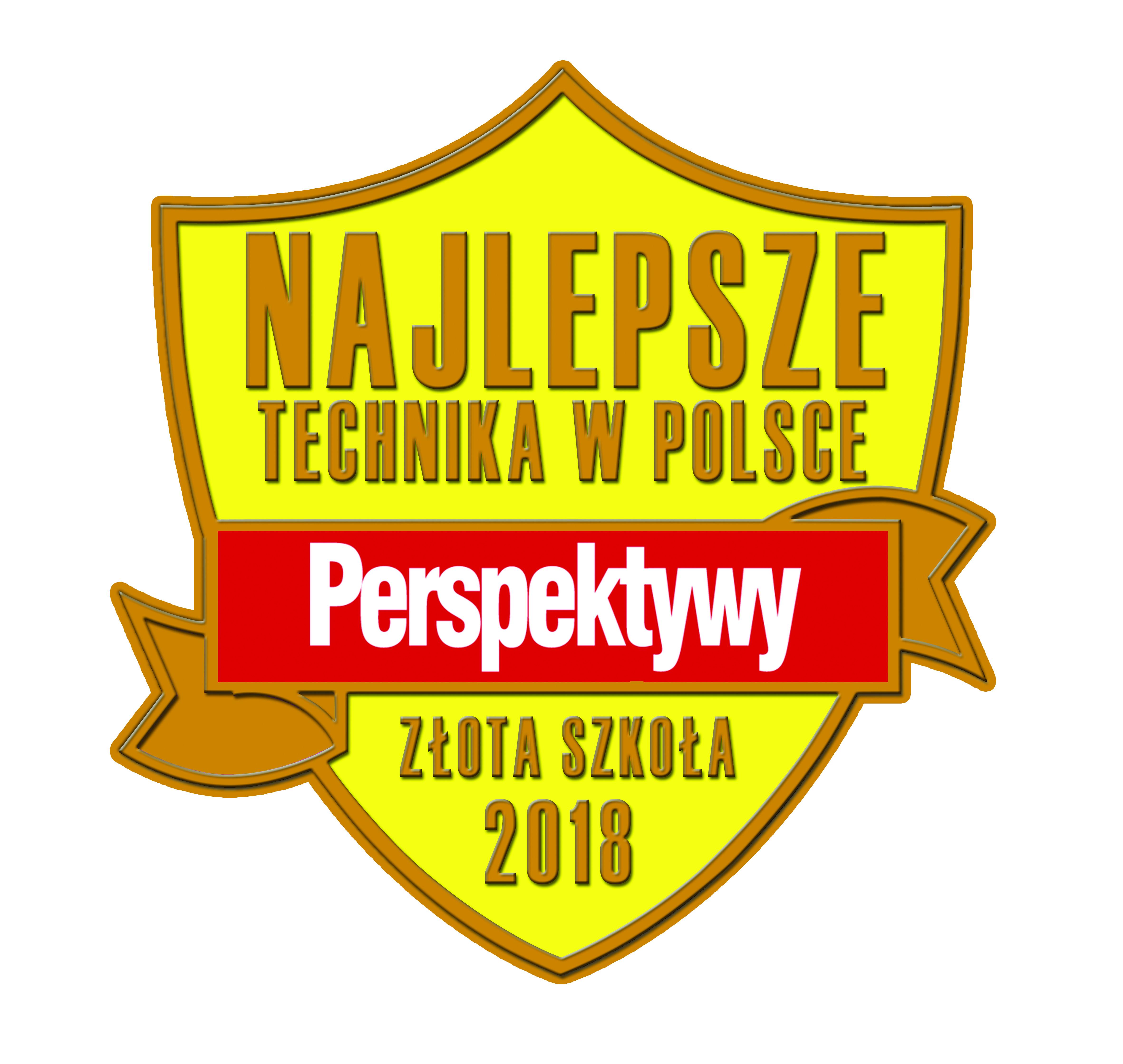 Fundacja Edukacyjna 'Perspektywy' potwierdza, że  TECHNIKUM NR 1 W ZESPOLE SZKÓŁ IM. WŁADYSŁAWA SZYBIŃSKIEGO w Cieszynie  jest wśród 300 najlepszych techników w Polsce sklasyfikowanych w Rankingu Szkół Ponadgimnazjalnych PERSPEKTYWY 2018 i przysługuje mu tytuł 'Złotej Szkoły 2018'.