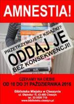 Amnestia w Bibliotece Miejskiej w  Cieszynie